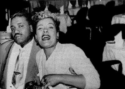 Billie Holiday junto a su marido Louis McKay
