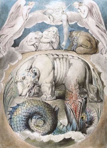Behemot y Leviatán (William Blake, 1825)