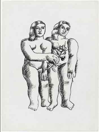 Dos mujeres (Dos hermanas) (Fernand Léger, 1935)