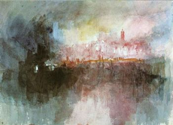 Quema de las casas del parlamento (William Turner, 1834)