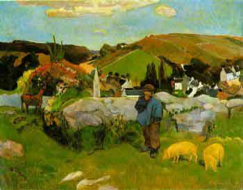 Swineherd (Paul Gauguin, 1888)